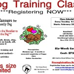 Dog training poster